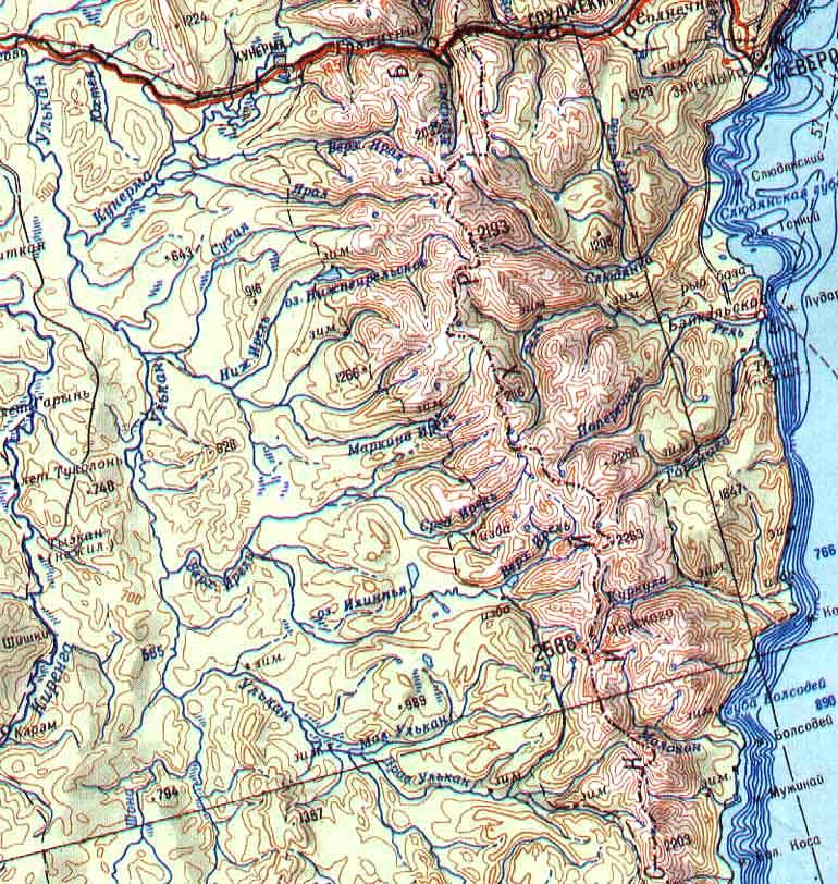 Обзорная карта района
